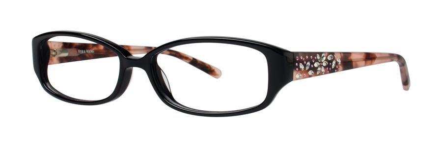 Vera Wang EVADNE Black Eyeglasses Size52-15-132.00