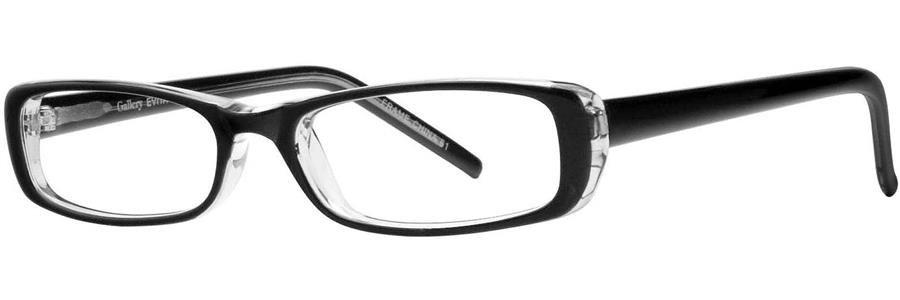 Gallery EVITA Black Eyeglasses Size48-17-135.00