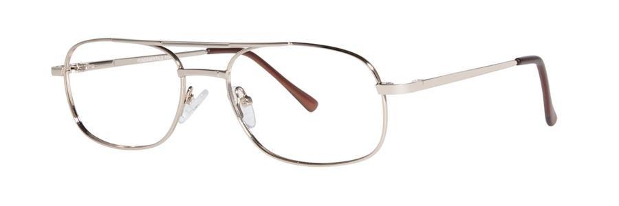 Fundamentals F204 Gold Eyeglasses Size54-18-