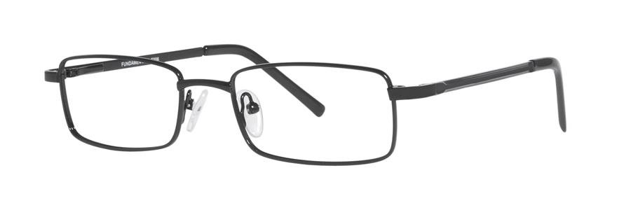 Fundamentals F206 Black Eyeglasses Size50-18-135.00