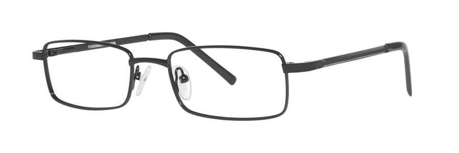 Fundamentals F206 Black Eyeglasses Size52-18-140.00
