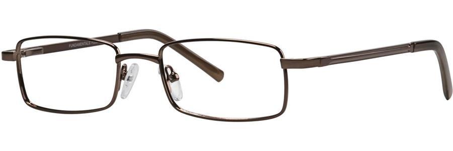 Fundamentals F206 Brown Eyeglasses Size52-18-140.00