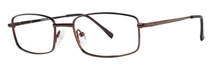 Fundamentals F208 Brown Eyeglasses Size55-17-140.00