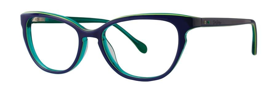 Lilly Pulitzer FORESYTHE Navy/Ocean Green Eyeglasses Size51-17-135.00