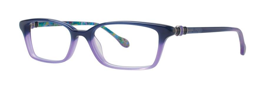 Lilly Pulitzer FULTON Navy Lavendar Eyeglasses Size52-16-135.00