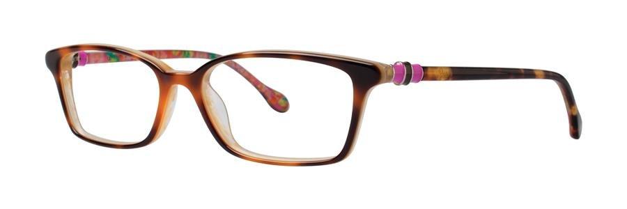 Lilly Pulitzer FULTON Tortoise Cream Eyeglasses Size52-16-135.00