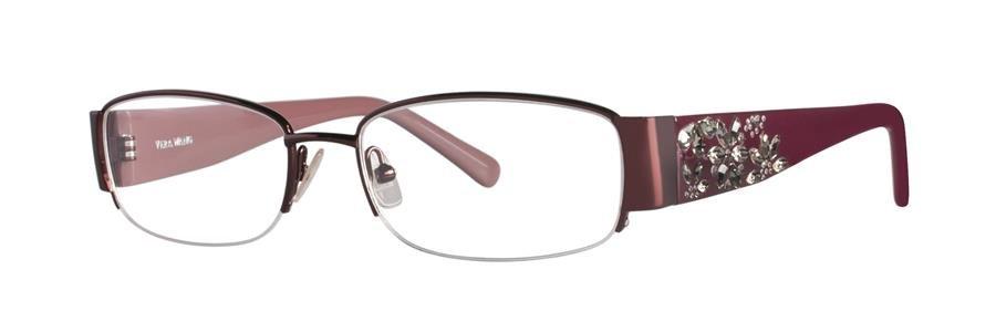 Vera Wang GARLAND Burgundy Eyeglasses Size52-17-138.00