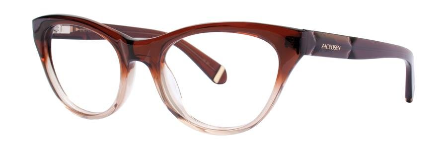 Zac Posen GLORIA Brown Eyeglasses Size49-18-130.00