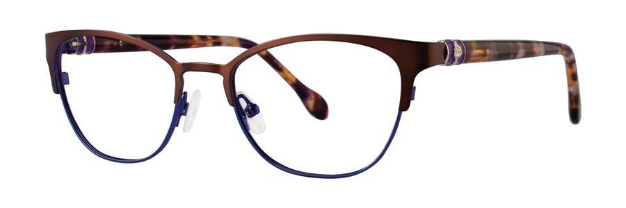 Lilly Pulitzer HAYDEN Chocolate Eyeglasses Size51-17-135.00
