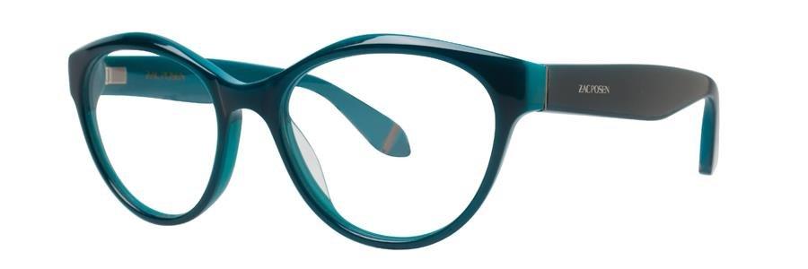Zac Posen HONOR Teal Eyeglasses Size50-16-130.00