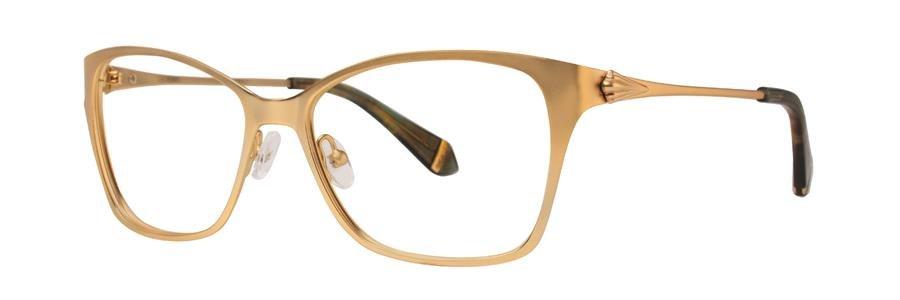 Zac Posen IDA Gold Eyeglasses Size55--140.00