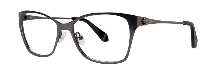 Zac Posen IDA Gunmetal Eyeglasses Size55--140.00