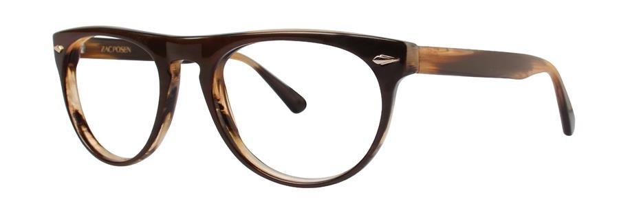 Zac Posen IDEALIST Brown Horn Eyeglasses Size53-19-140.00
