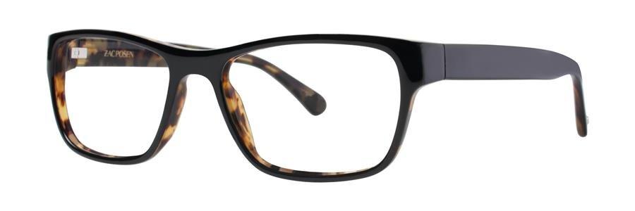 Zac Posen JARROD Black Eyeglasses Size54-17-145.00