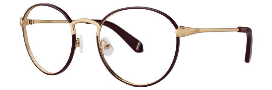 Zac Posen JOAN JULIET Wine Eyeglasses Size52-20-135.00