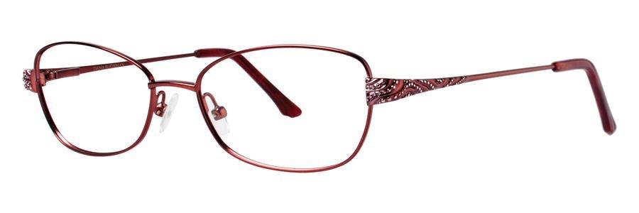 Dana Buchman JUSTINE Burgundy Eyeglasses Size52-16-135.00