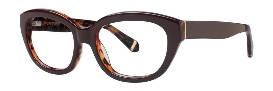 Zac Posen KATHARINE Brown Eyeglasses Size52-18-135.00
