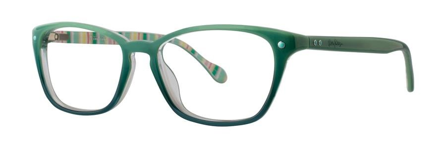Lilly Pulitzer KINGSLEY Teal Fade Eyeglasses Size49-15-135.00