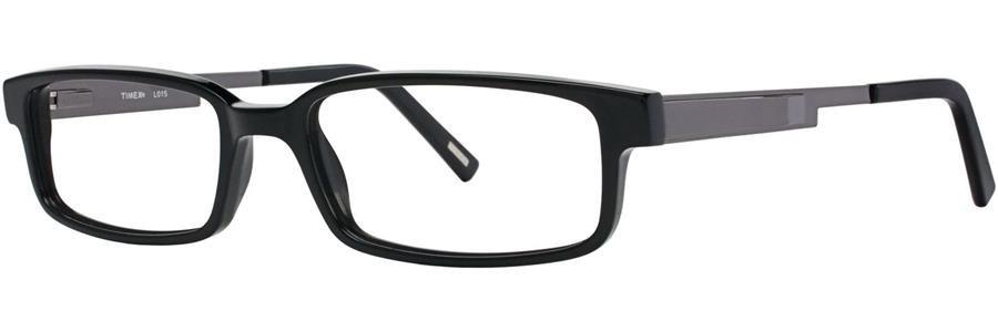 Timex L015 Black Eyeglasses Size56-18-