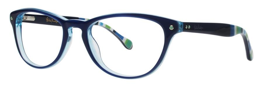 Lilly Pulitzer LANEY Navy Eyeglasses Size49-18-135.00