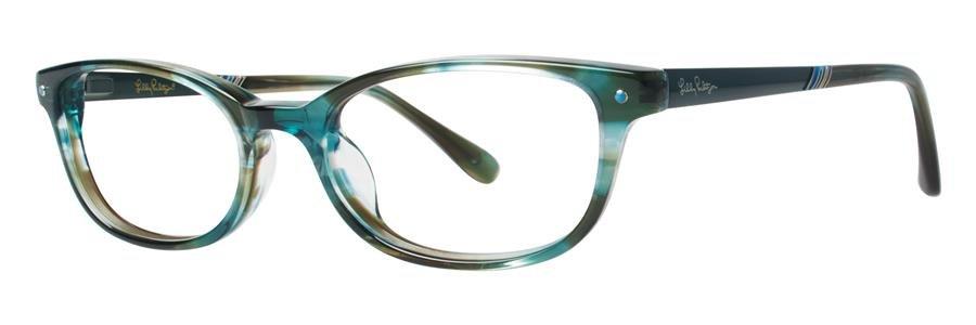 Lilly Pulitzer LEIGHTON Ocean Eyeglasses Size49-17-135.00