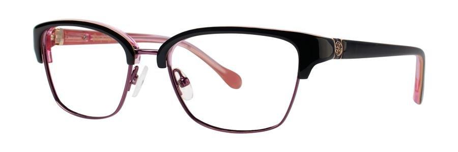 Lilly Pulitzer LEXINGTON Black Eyeglasses Size49-16-130.00