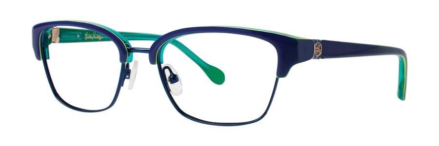 Lilly Pulitzer LEXINGTON Navy Eyeglasses Size49-16-130.00