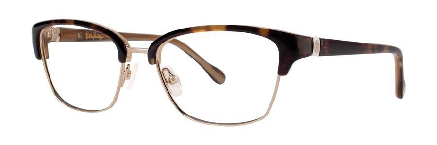 Lilly Pulitzer LEXINGTON Tortoise Eyeglasses Size49-16-130.00