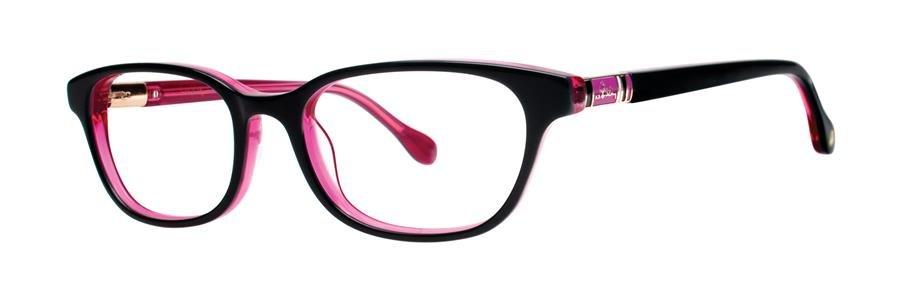 Lilly Pulitzer MAEVE Black/Pink Eyeglasses Size49-17-135.00
