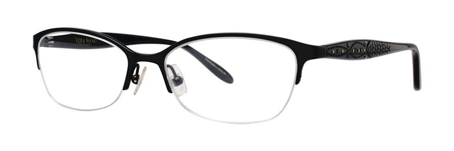 Vera Wang MARCELINE Black Eyeglasses Size53-16-140.00