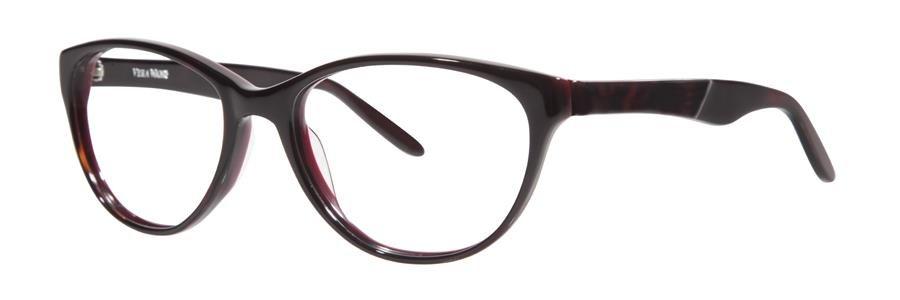 Vera Wang MAURELLE Burgundy Eyeglasses Size54-17-135.00