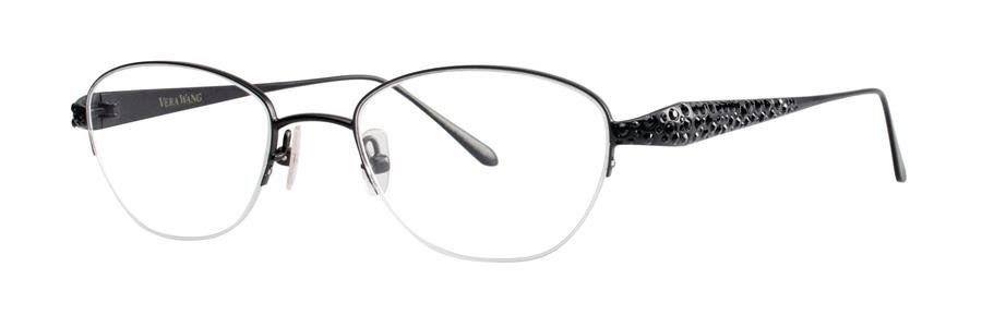 Vera Wang MELITA Black Eyeglasses Size47-18-133.00