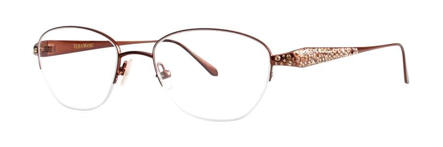 Vera Wang MELITA Pecan Eyeglasses Size47-18-133.00