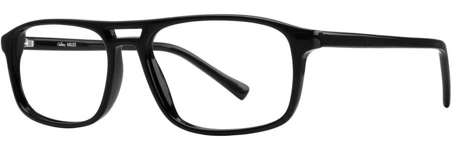 Gallery MILES Black Eyeglasses Size54-18-145.00