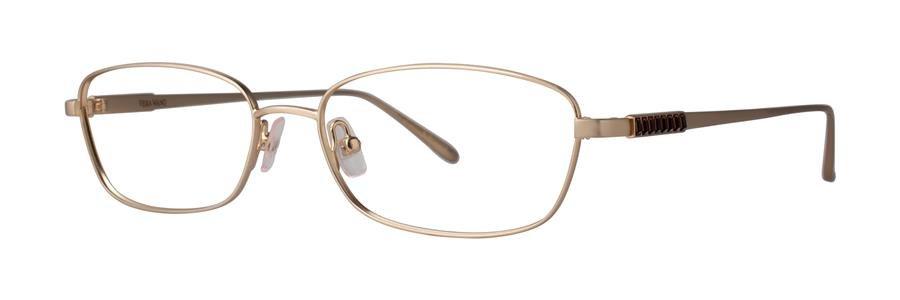 Vera Wang MIRIAM Gold Eyeglasses Size51-16-132.00