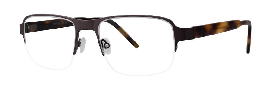 Jhane Barnes MOLECULAR Brown Eyeglasses Size52-18-140.00