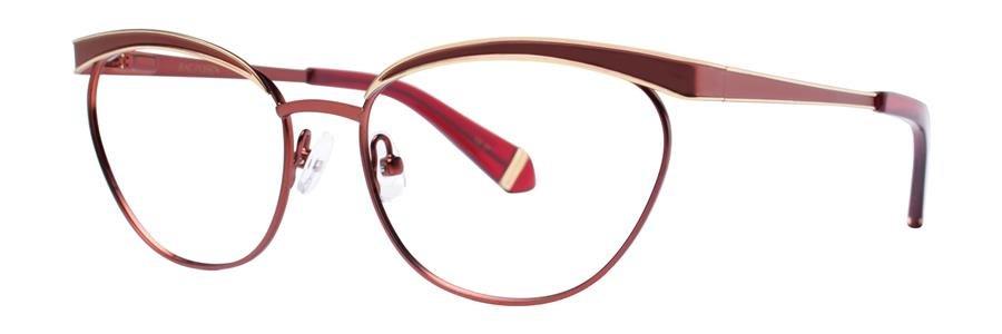 Zac Posen MOYRA Wine Eyeglasses Size53-16-135.00
