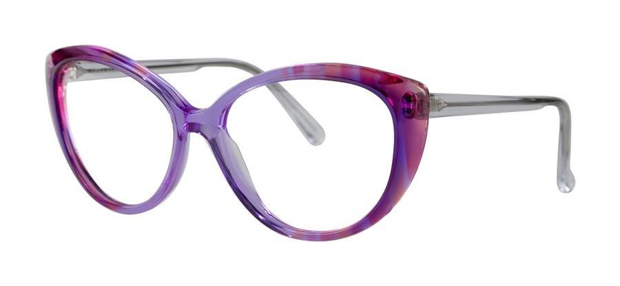 Vera Wang OPHELIA Purple Velvet Eyeglasses Size00-14-140.00