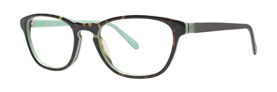 Lilly Pulitzer PALMER Mint Tortoise Eyeglasses Size49-17-135.00