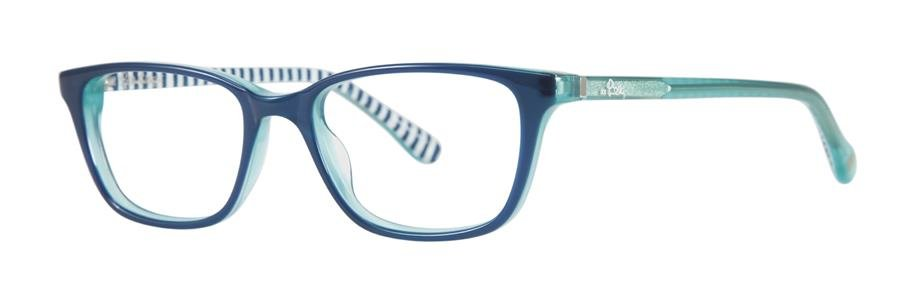 Lilly Pulitzer PIPPIN Navy Eyeglasses Size47-15-125.00