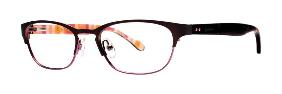 Lilly Pulitzer PORTER Brown Eyeglasses Size49-17-135.00