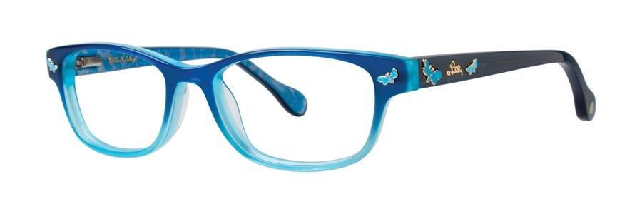 Lilly Pulitzer SANDRINE Aqua Eyeglasses Size48-15-125.00