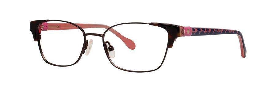 Lilly Pulitzer SHELDRAKE Chocolate Eyeglasses Size45-15-125.00