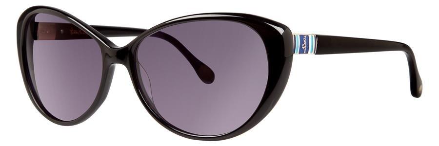 Lilly Pulitzer STANTON Black Sunglasses Size56-15-135.00