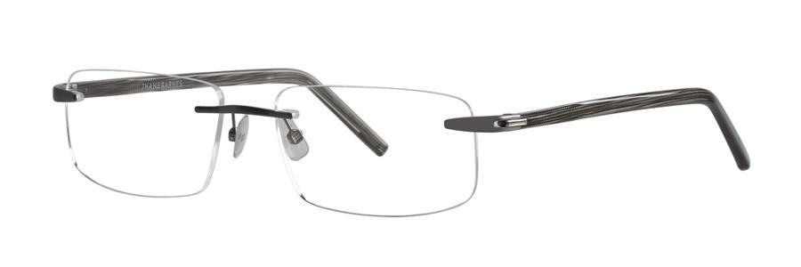 Jhane Barnes SUBSET 13 Gunmetal Eyeglasses Size56-18-145.00