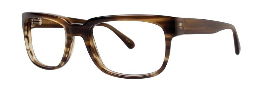 Zac Posen TECH Olive Horn Eyeglasses Size55-19-140.00