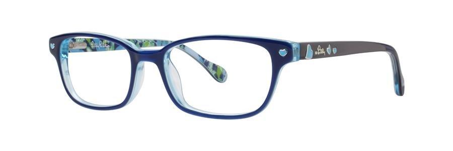 Lilly Pulitzer TRINI Navy Eyeglasses Size45-15-125.00