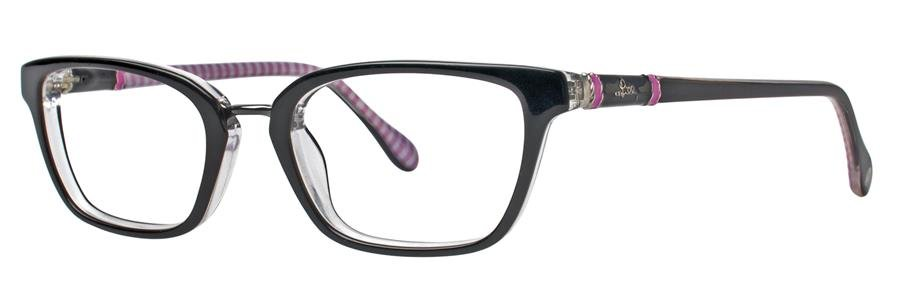 Lilly Pulitzer TRURO Black Crystal Eyeglasses Size47-18-135.00