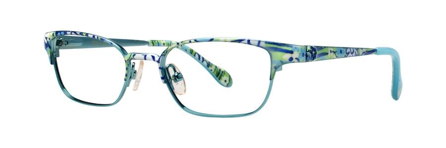 Lilly Pulitzer TULLY Aqua Eyeglasses Size47-16-125.00