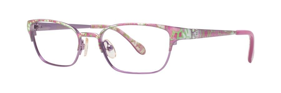 Lilly Pulitzer TULLY Pink Eyeglasses Size45-16-120.00